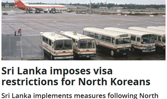 Sri Lanka Imposes Strict Visa Sanctions On North Koreans